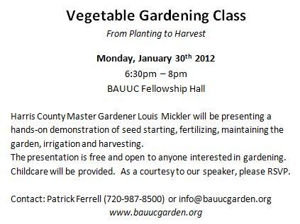 January 2012 Bauuc Community Garden